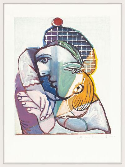 """Pablo Picasso: Bild """"Portrait de femme au béret écossais"""" (1979-1982)"""