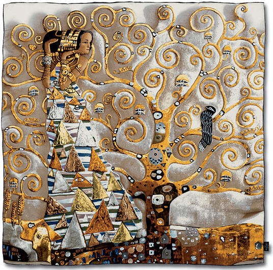 "Gustav Klimt: Silk scarf ""Expectation / The Tree of Life"""