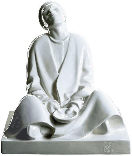 """Ernst Barlach: Sculpture """"Blind Beggar"""", porcelain"""