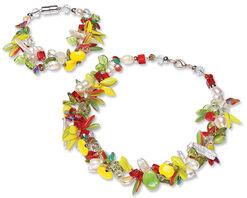 """Jewellery set """"Lemon Tree"""""""