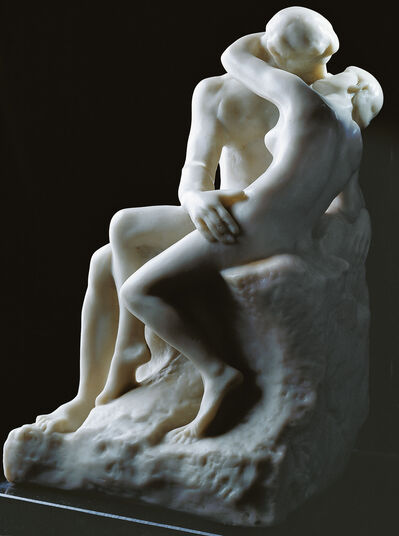 "Auguste Rodin: Sculpture ""The Kiss"" (24 cm), version in artificial marble"
