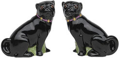 """2 Porcelain Figures """"Pug"""" in Set"""