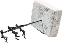 """Skulptur """"An einem Strang ziehen"""", Bronze und Steinguss"""