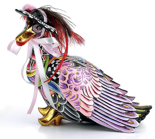 "Thomas Hoffmann / Tom's Drag: Fashion Duck ""Goldie"", Hand Painted"