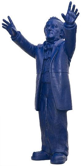 "Ottmar Hörl: Skulptur ""Richard Wagner"", unsignierte Version nachtblau"