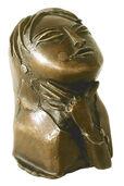 """Skulptur """"Asiatin"""", Bronze"""