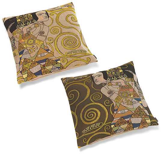 "Gustav Klimt: Set of 2 cushion drape ""expectation"""