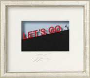 "3D-Painting ""Let's go"", Framed"
