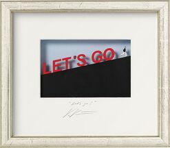 "3D-Painting ""Let's go"", Framed"