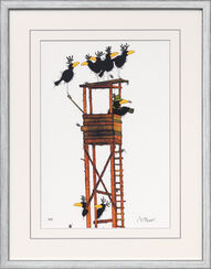 "Painting ""High Seat and Wildfowl"", Framed"