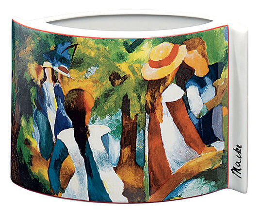 "August Macke: Porcelain ""Girl among trees"" (1914)"