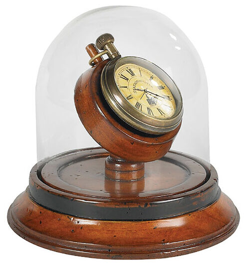 Victorian clock with glass cover