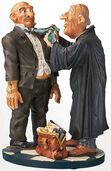 "Caricature ""The lawyer"", hand-painted, art castings"