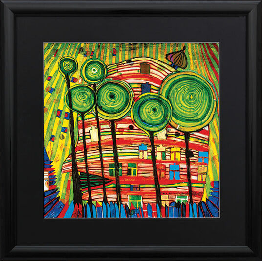 "Friedensreich Hundertwasser: Painting ""(745) Blobs Grow in Beloved Gardens"""