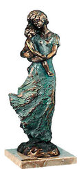 Sculpture 'Mother's Love', artificial bronze
