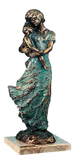Lluis Jorda: Sculpture 'Mother's Love', artificial bronze