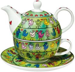 """Teekanne mit integrierter Tasse """"Bird in Love"""", Porzellan"""