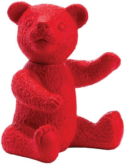 """Ottmar Hörl: Skulptur """"Teddy (rot)"""" (2007)"""