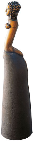 "Paul Wunderlich: Sculpture ""Character with long skirt"", bronze"