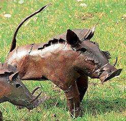 """Garden statue """"Warthog"""" (medium-sized version)"""
