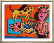 "Picture ""Femme, Chat et l'Oiseau - woman, Cat and the Bird"" (1999)"