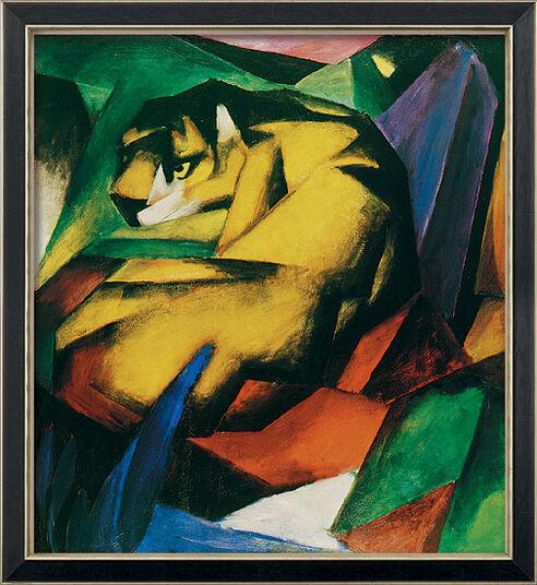 "Franz Marc: Bild ""Der Tiger"" (1912), gerahmt"