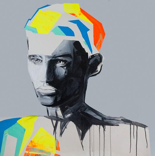 "Edyta Grzyb: Bild ""Unique Brain"" (2015) (Unikat)"