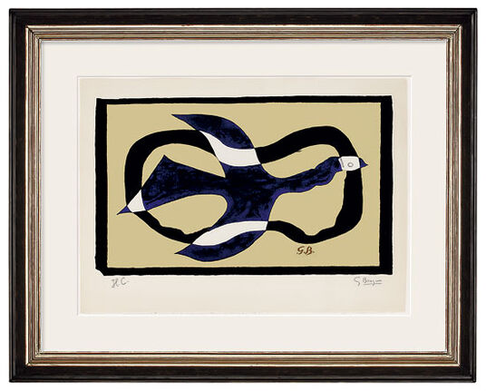 """Georges Braque: Bild """"Oiseau traversant le nuage"""" (1957)"""