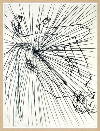 """Georg Baselitz: Bild """"Mittelpunkt"""" (1996/97)"""
