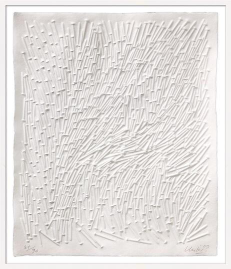 "Günther Uecker: Bild ""Kalender - Prägedruck"" (2009), gerahmt"