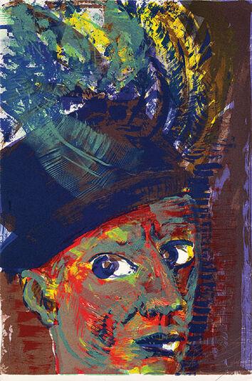 "Rainer Fetting: Bild ""Selbst als Rembrandt"" (1998)"