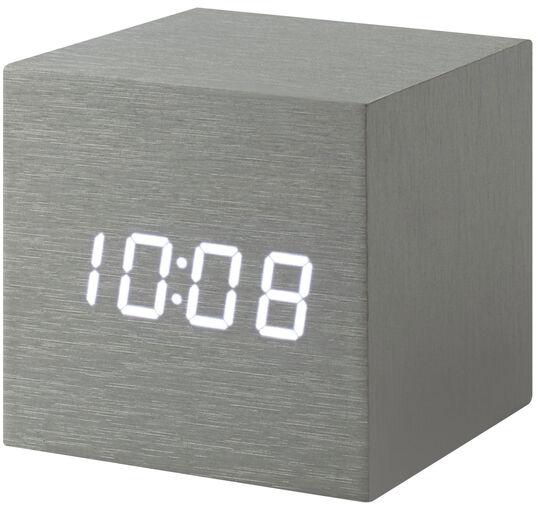 "LED-Tischuhr ""Alume Cube"" mit Alarmfunktion"