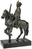 """Reiterstatuette """"Karl der Große"""", Version in Bronze"""