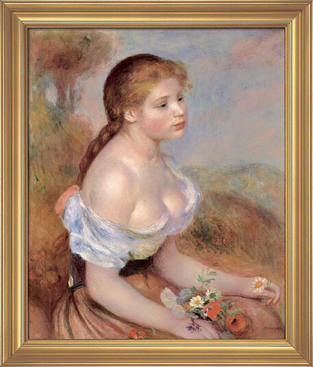 "Auguste Renoir: painting ""Girl with Daisies"", 1889"