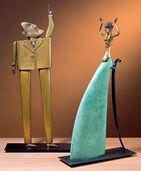 """Skulpturengruppe """"Pythia"""" und """"Der Fragensteller"""", Bronze"""