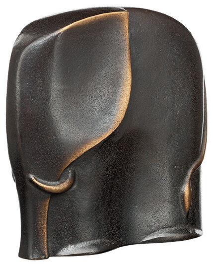 """Raimund Schmelter: Tierplastik """"Elefant"""", Bronze"""