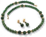 Jade Pearls-Jewellery set