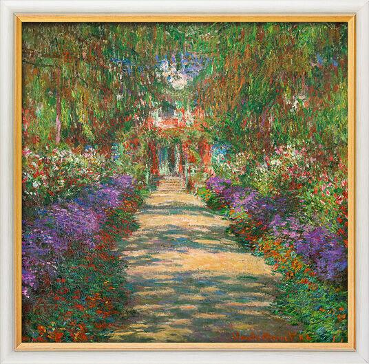 """Claude Monet: Bild """"Garten in Giverny"""" (1902), gerahmt"""