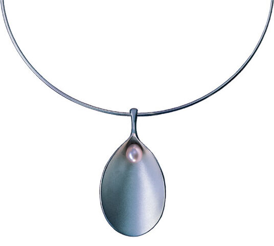 Paul Wunderlich: 'Venus Necklace' with cultured pearl, .925 sterling silver