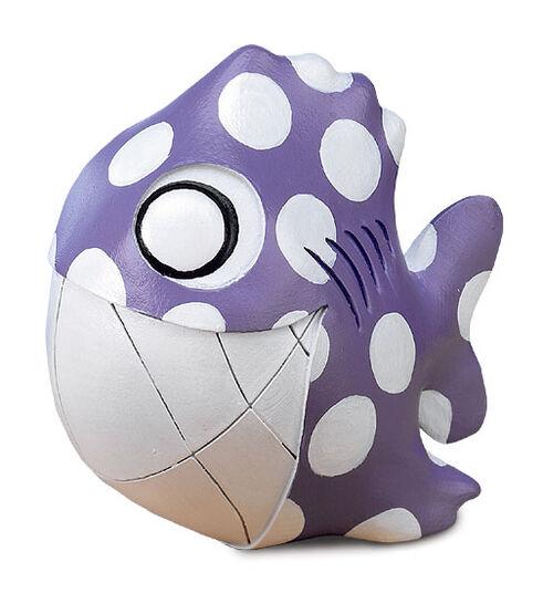 "Cane Cooper: Skulptur Cultfish ""Joe Purple"", Steinmasse"