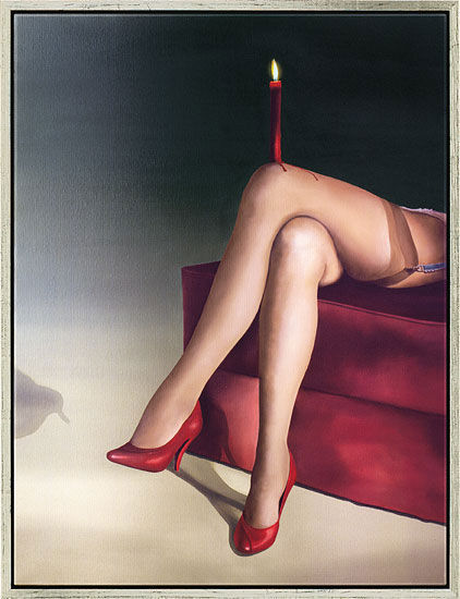 "Art print ""Bellezza inimmaginabile"", framed"
