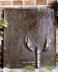 """""""Großes Relief mit Hummer"""", Bronze"""