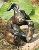 """Gartenskulptur """"Hase Kasper"""", Bronze"""