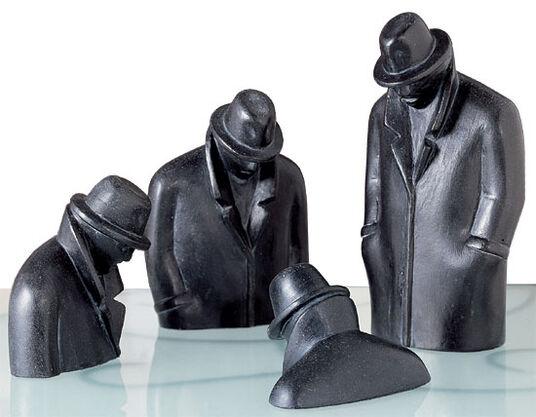 """Siegfried Neuenhausen: Sculpture group """"Sequence"""", version in polyresin"""