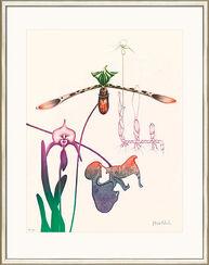 "Bild ""Orchidee III"", WVZ-Nr. 726, gerahmt"