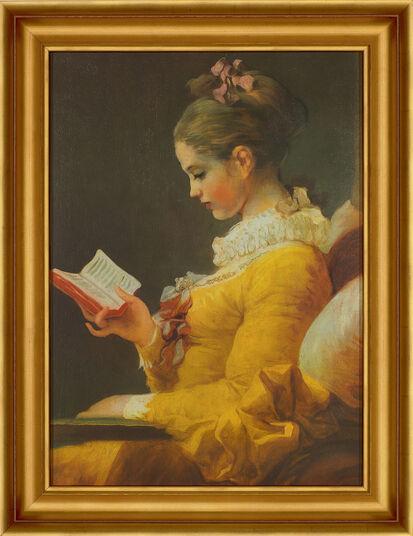 "Jean-Honoré Fragonard: Bild ""Die Lesende"" (1770-72), gerahmt"