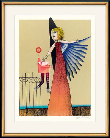 "Paul Wunderlich: Picture  ""The Guardian Angel"""