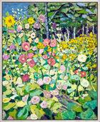 """Bild """"Malven mit Sonnenblume"""" (2003) (Unikat)"""