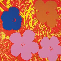 "Bild ""Warhols Sunday B. Morning - Blumen 69 (flieder/lila/beige)"""