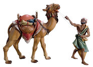 Nativity figurines 'Standing Camel with Keeper', hand-painted